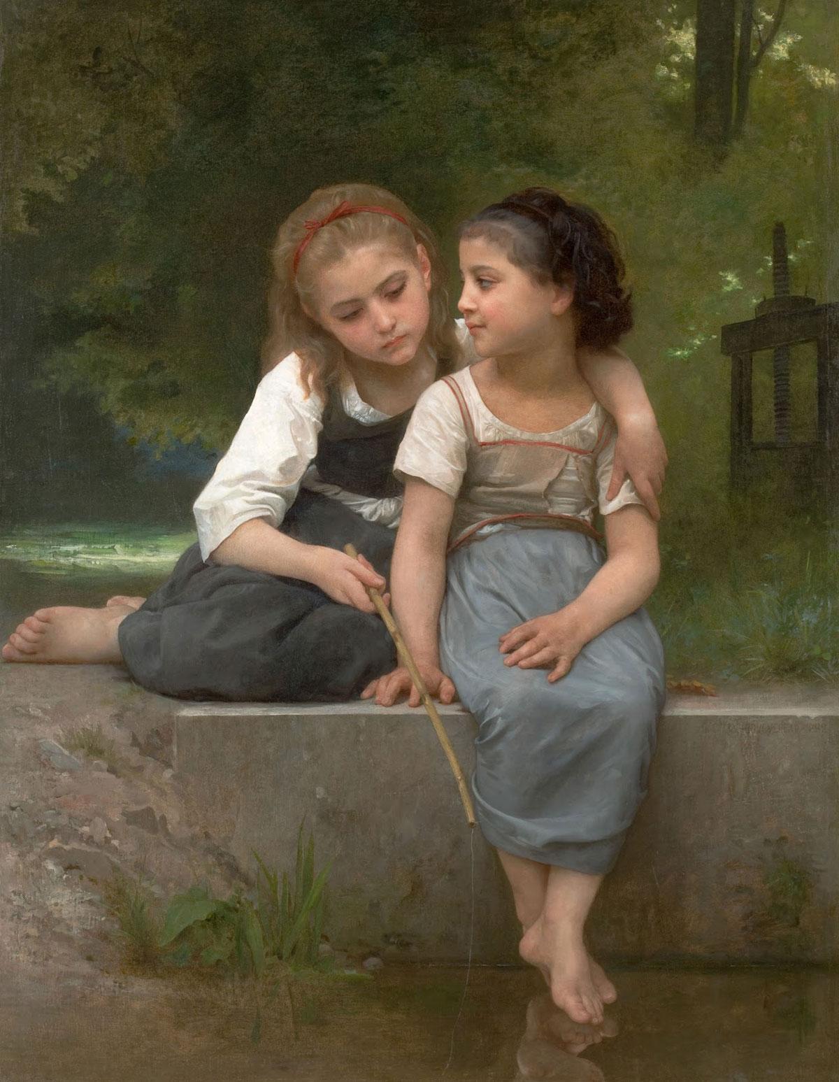 A pesca de rãs. 1882. Óleo sobre tela - 54 x 42 cm