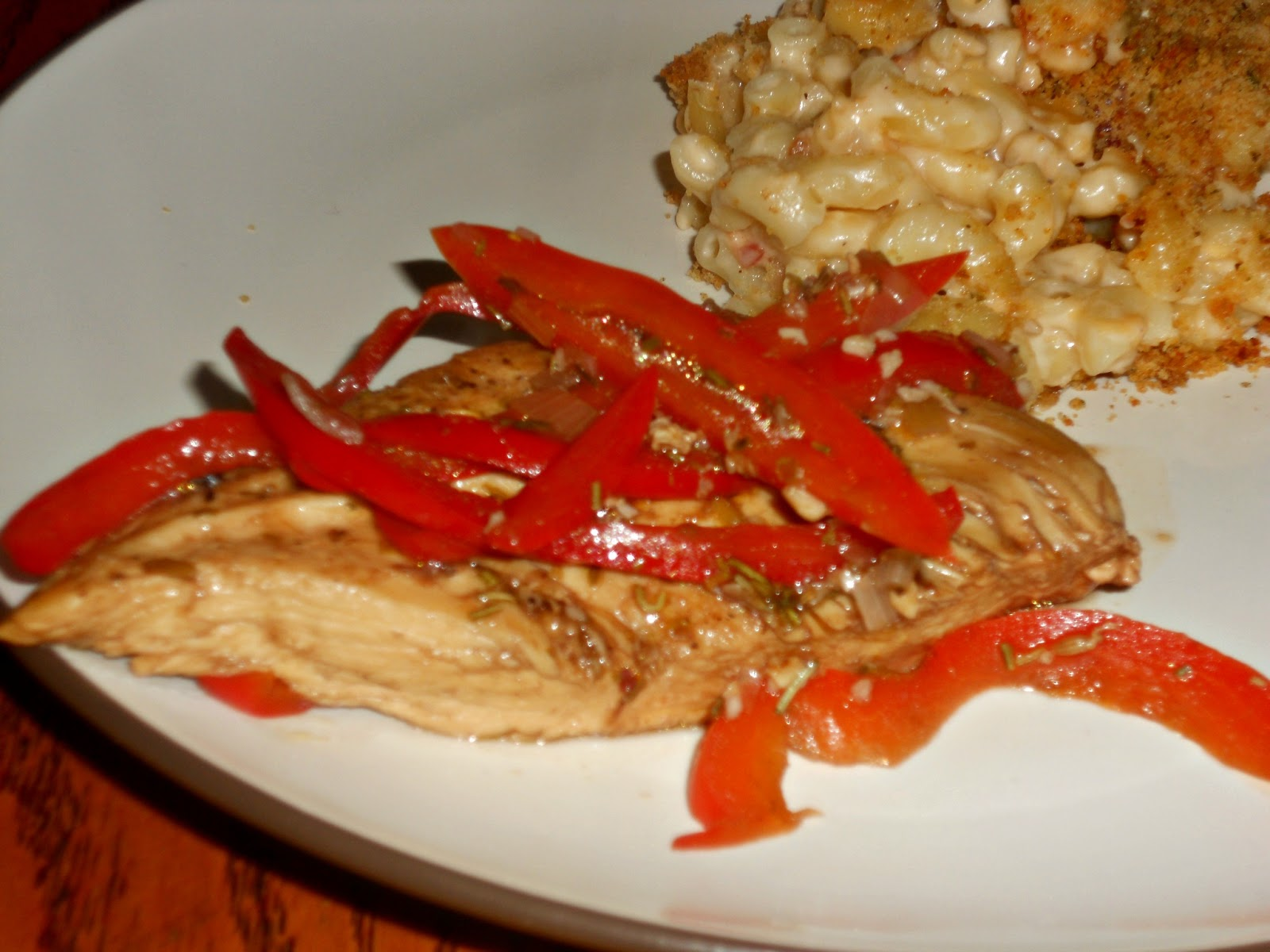 Roasted Chicken with Balsamic Bell Peppers - Hezzi-D's ...