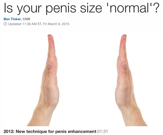 Is your penis size normal? - CNN