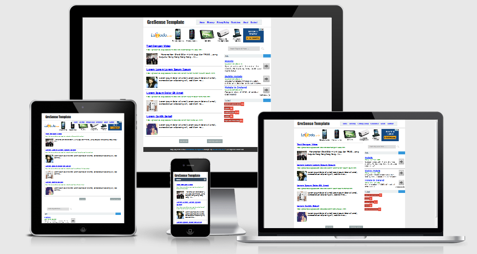 GreSense template blogger khusus adsense