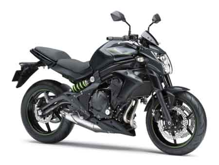 kawasaki ER6n black metallic