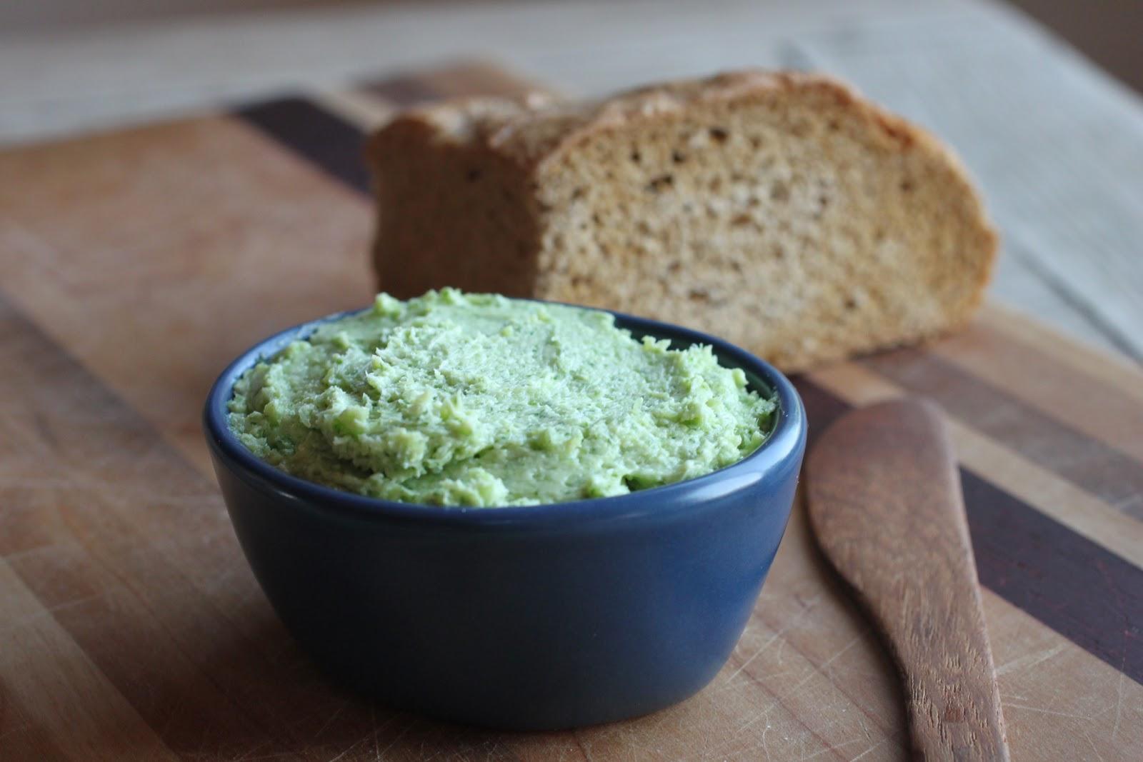 Green garlic butter
