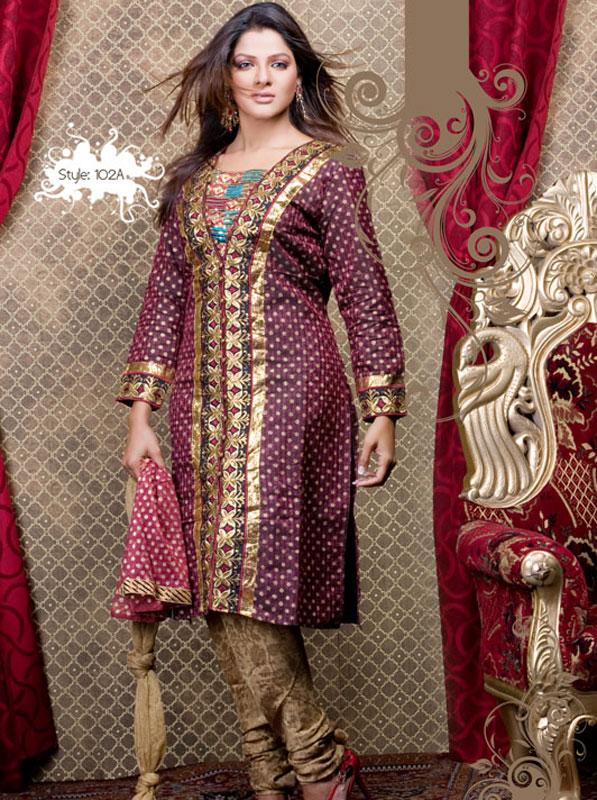 Latest anarkali churidar designs for girls 2013 2014 for Girls suit design
