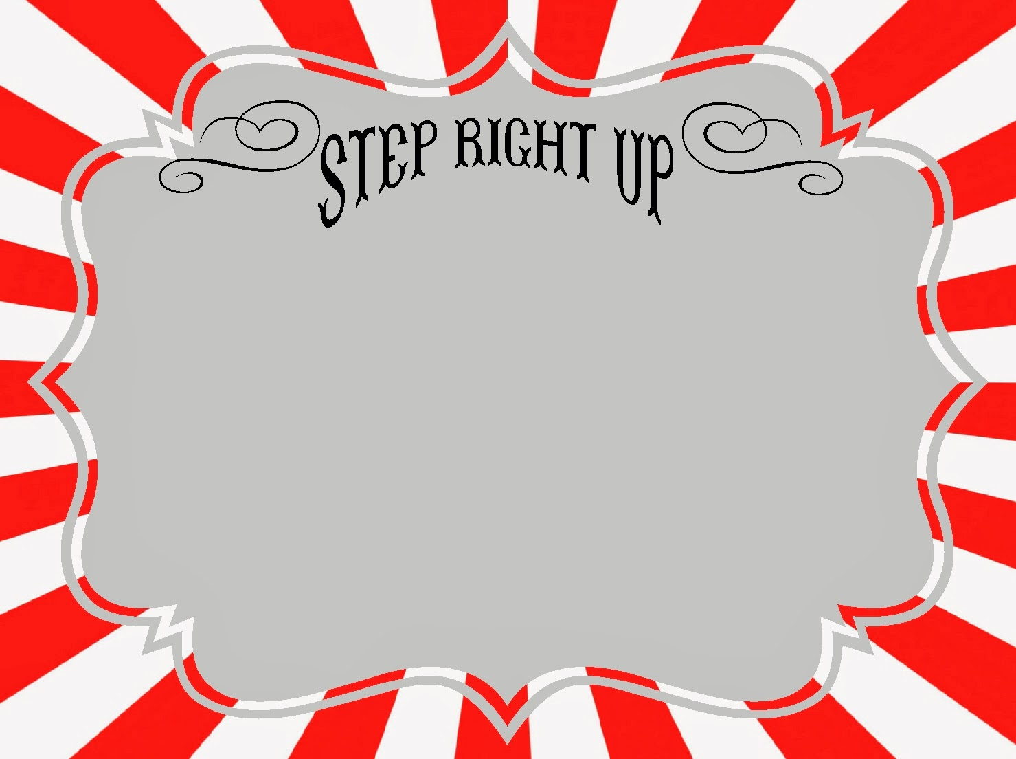 image about Free Printable Sign Templates referred to as Absolutely free Carnival Symptoms Printables RoomMomSpot