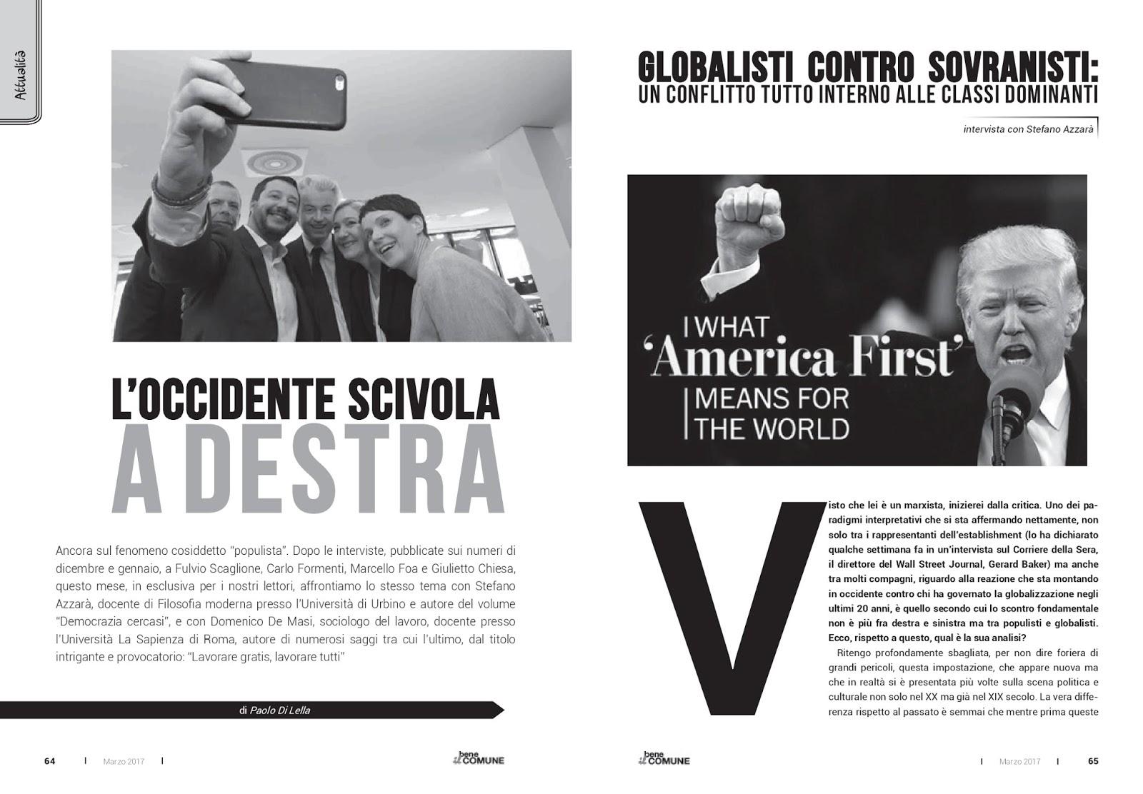 """Stefano G. Azzarà: """"L'Occidente scivola a destra"""""""
