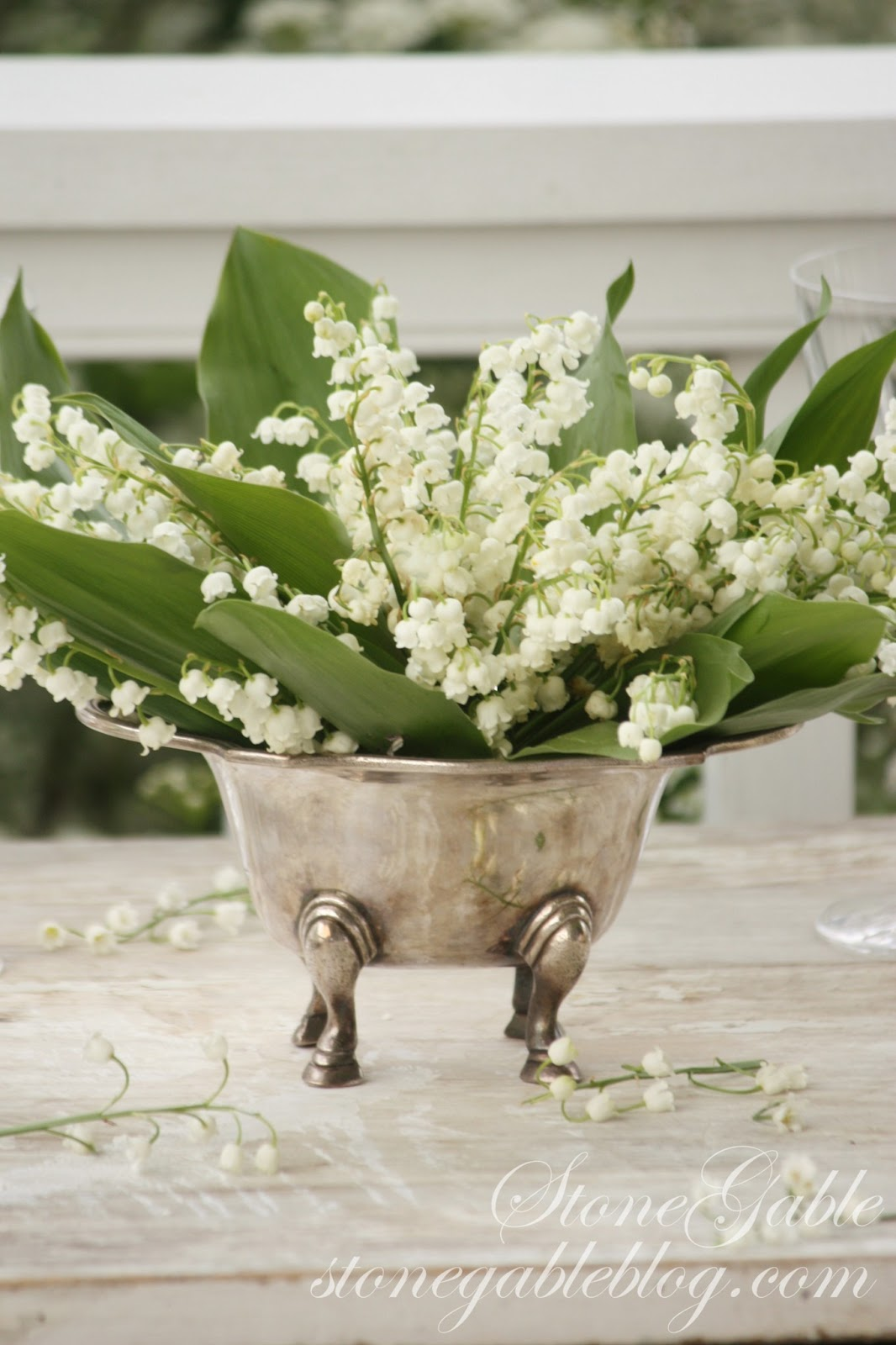 Lily Of The Valley Tablescape Stonegable
