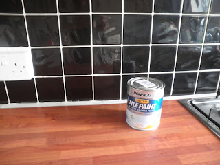 the chimney pot: before and after ~ kitchen tiles