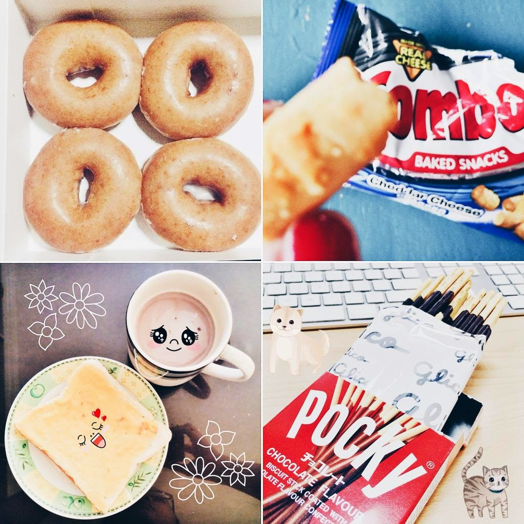food krispy kreme doughnut combos bread pocky sticks foodporn