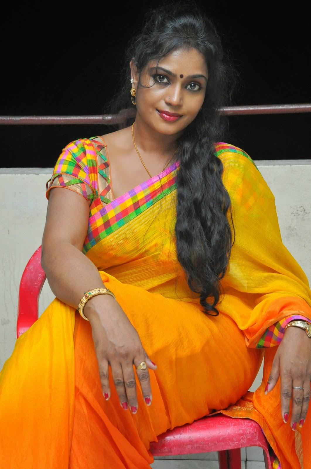Jayavani glam pics in saree-HQ-Photo-3