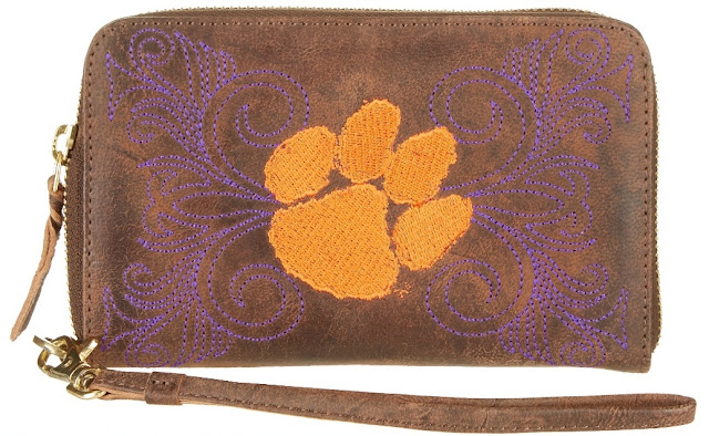 clemson game day clutch to match cowboy boots