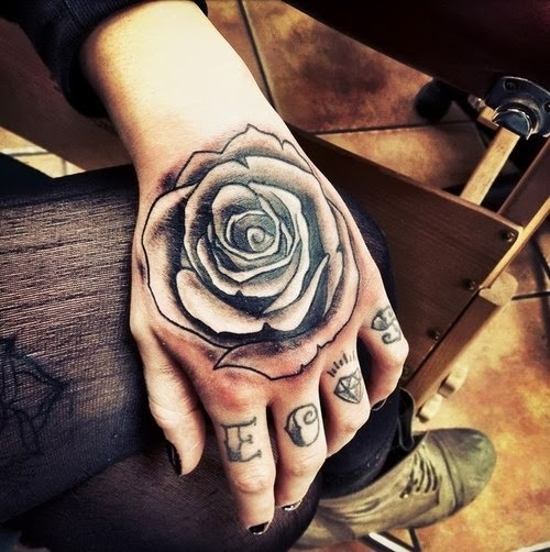 Rose Tattoo Ideas for Hand