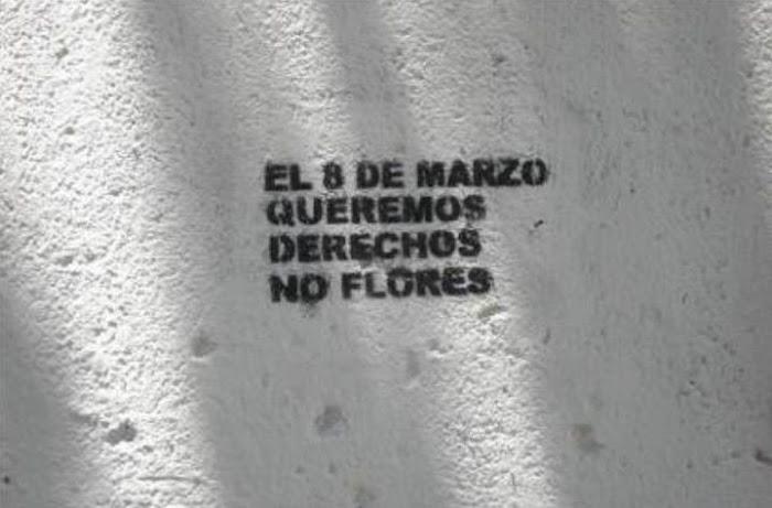 no 8 de março queremos direitos, não flores