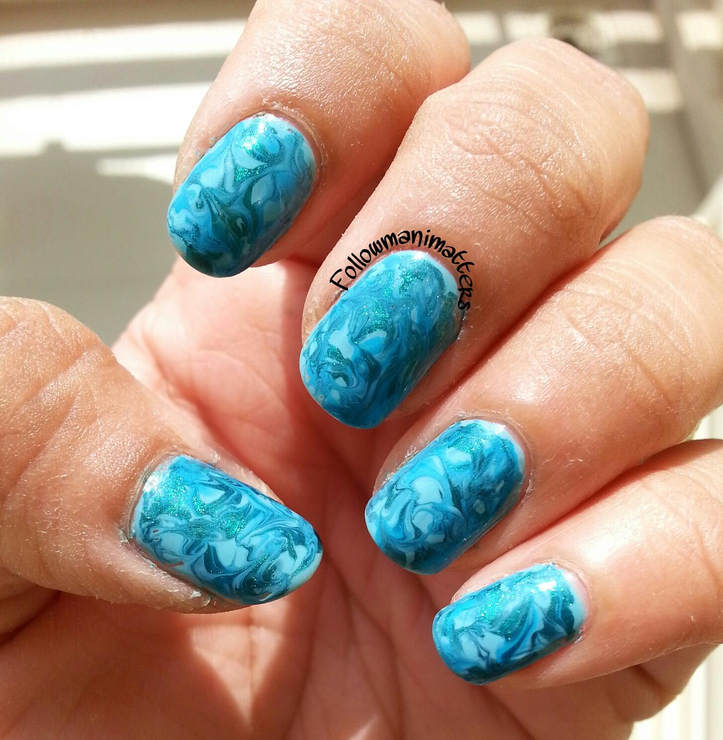Water Marble Nail Polish Brands India: Manisha's FollowManimatters: Dry Marble Nails