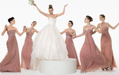 Vestidos para damas de honor rosa clara