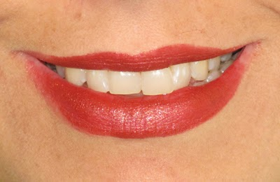 Kat Von D Studded Kiss Lipstick in Thin Lizzy on Lips