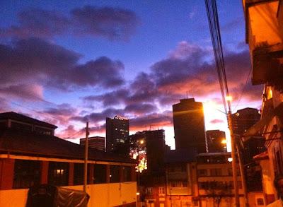 Bogotá DC, Colombia at dusk.
