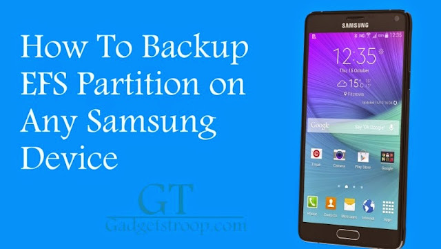 backup/restore efs partitions on Samsung devices