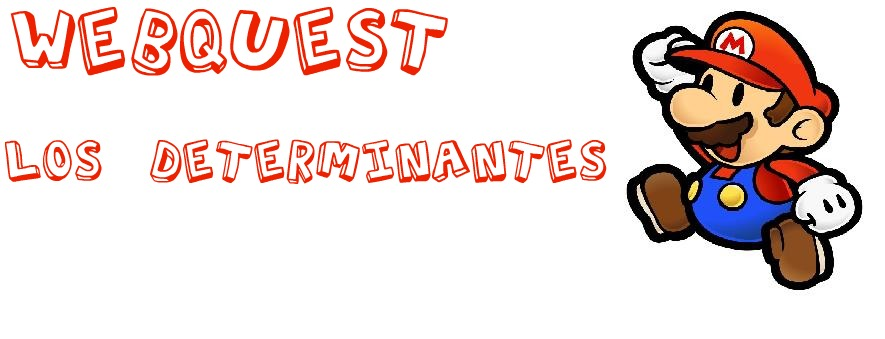WebQuest : Los determinantes