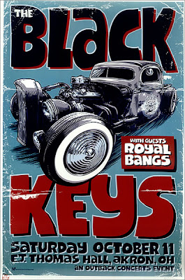 Daymon Greulich Black Keys Poster Illustration