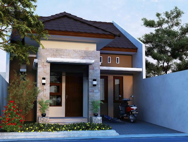 Desain Eksterior Rumah Bapak Bambang di Sragen