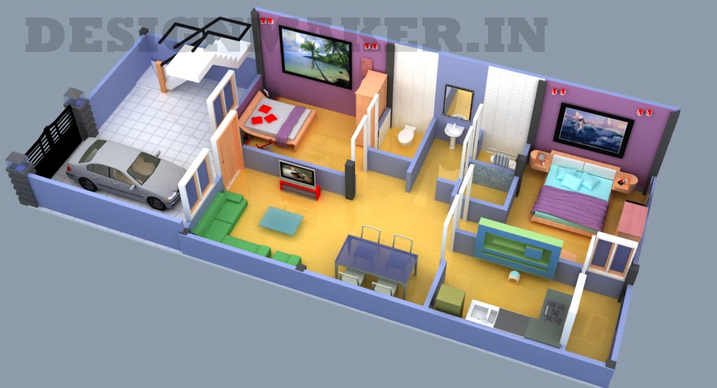Interior Designer 20 50 3d Floor Plan
