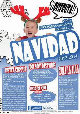 Cartel con la Programación Infantil Navidad 2013-2014