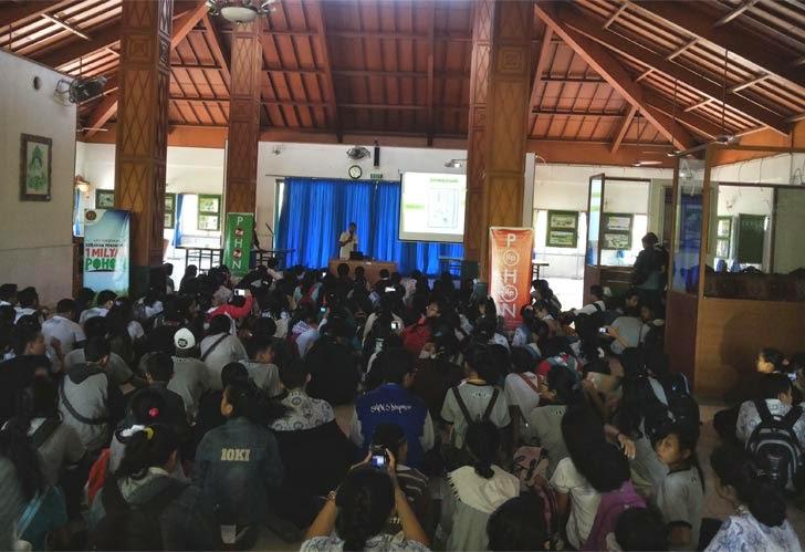 Kunjungan Sekolah SMP5 Denpasar ke Balai Pengelolaan Hutan Mangrove Wilayah I