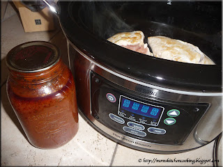 preparing the slow cooker
