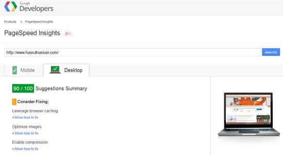 Perbaiki Kelajuan Blog Menerusi PageSpeed Insights