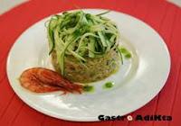 Risotto marinero con spaghetis de calabacín