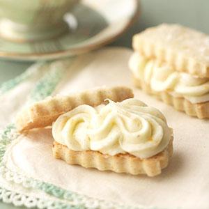 Vanilla Bean Shortbread Sandwiches with Orange Buttercream | Cook'n is ...