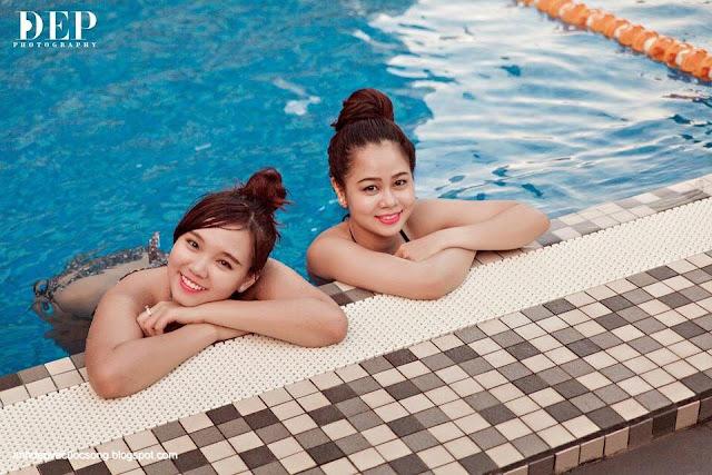 Hotgirl Hoài Thiên quyến rủ với bikini