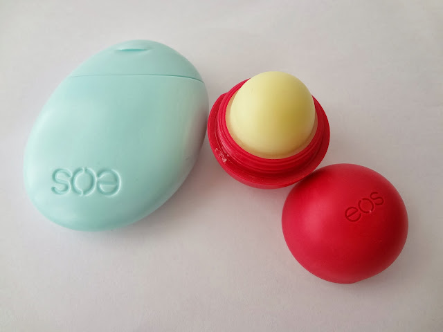 EOS lip balm sphere twist top and hand lotion review by GlamorousGia.