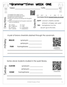 http://www.teacherspayteachers.com/Product/GrammarTime-Daily-Review-of-CCSS-Grammar-Vocabulary-Skills-1116150