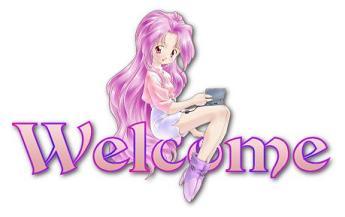 Plauderecke - Seite 3 Pink-anime-welcome-sign