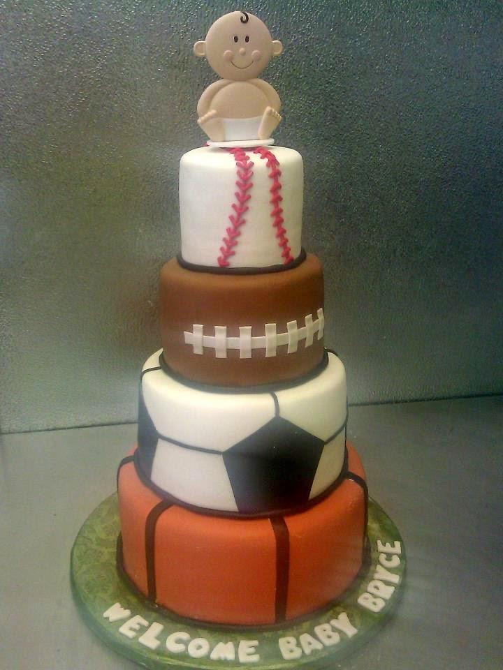 Sports Ball Baby Shower Cake