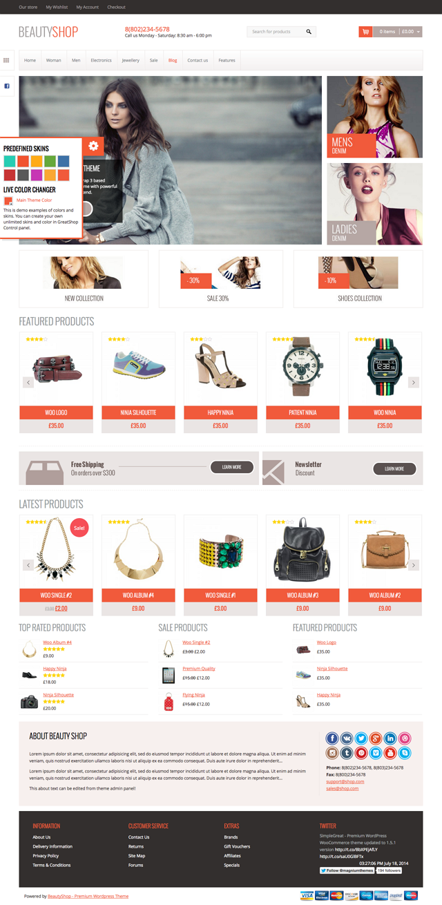 WP ecommerce website screenshot