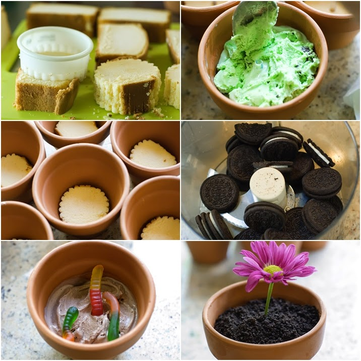 DIY Springy Flower Pot Desserts - https://www.facebook.com/craftsdiy