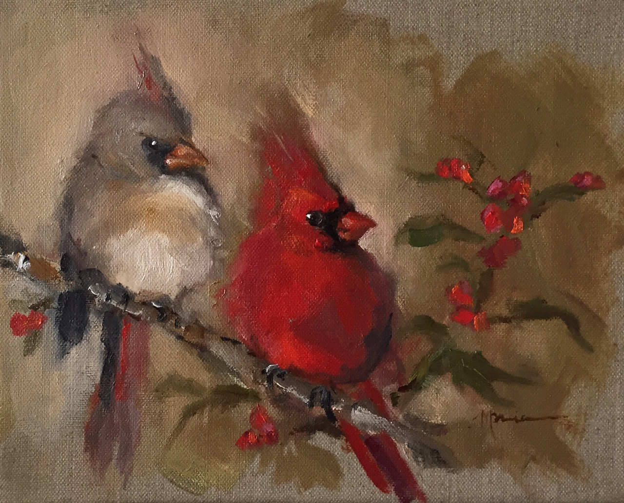Painting by the lake 11012015 12012015 it is said that cardinals symbolize hope joy health rejuvenation and celebration there are also those who believe that when a cardinal appears then an buycottarizona