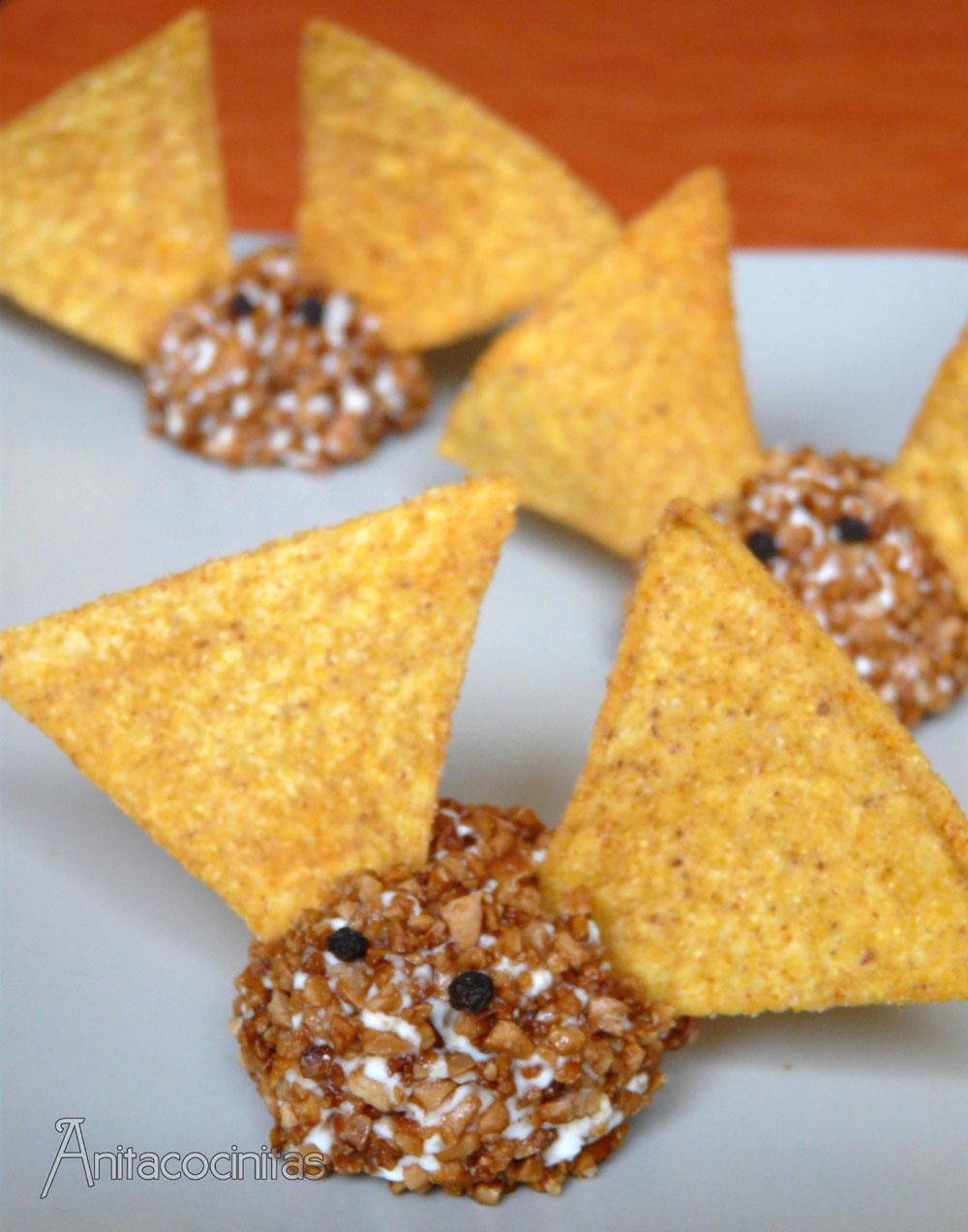 Anita cocinitas receta de halloween murci lagos de queso para halloween - Murcielagos para halloween ...