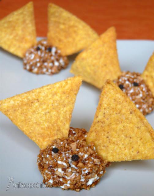Anita cocinitas receta de halloween murci lagos de queso - Murcielagos para halloween ...