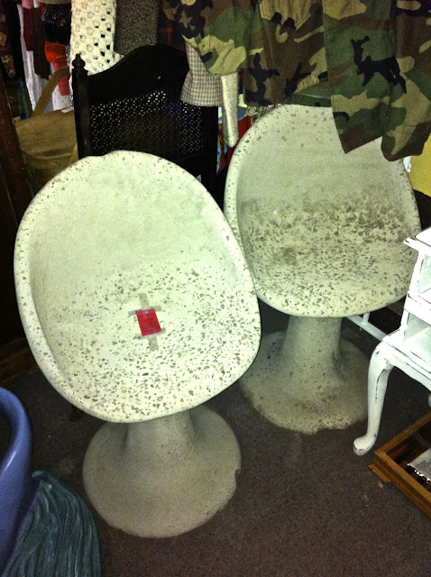 Georgia antique store concrete chair