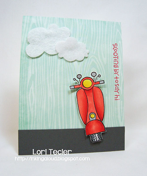 Scooting by to Say Hi-designed by Lori Tecler-Inking Aloud-stamps and dies from Paper Smooches