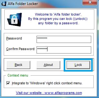 password alfa
