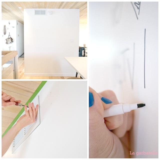 Pizarra para escribir affordable pizarra mini escribir - Pintura pizarra rotulador ...