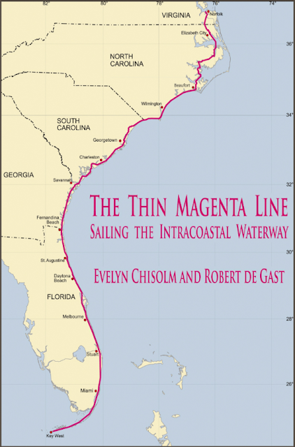 Geogarage blog intracoastal waterway route magenta line on noaa the thin magenta line book from evelyn chisolm and robert de gast publicscrutiny Images