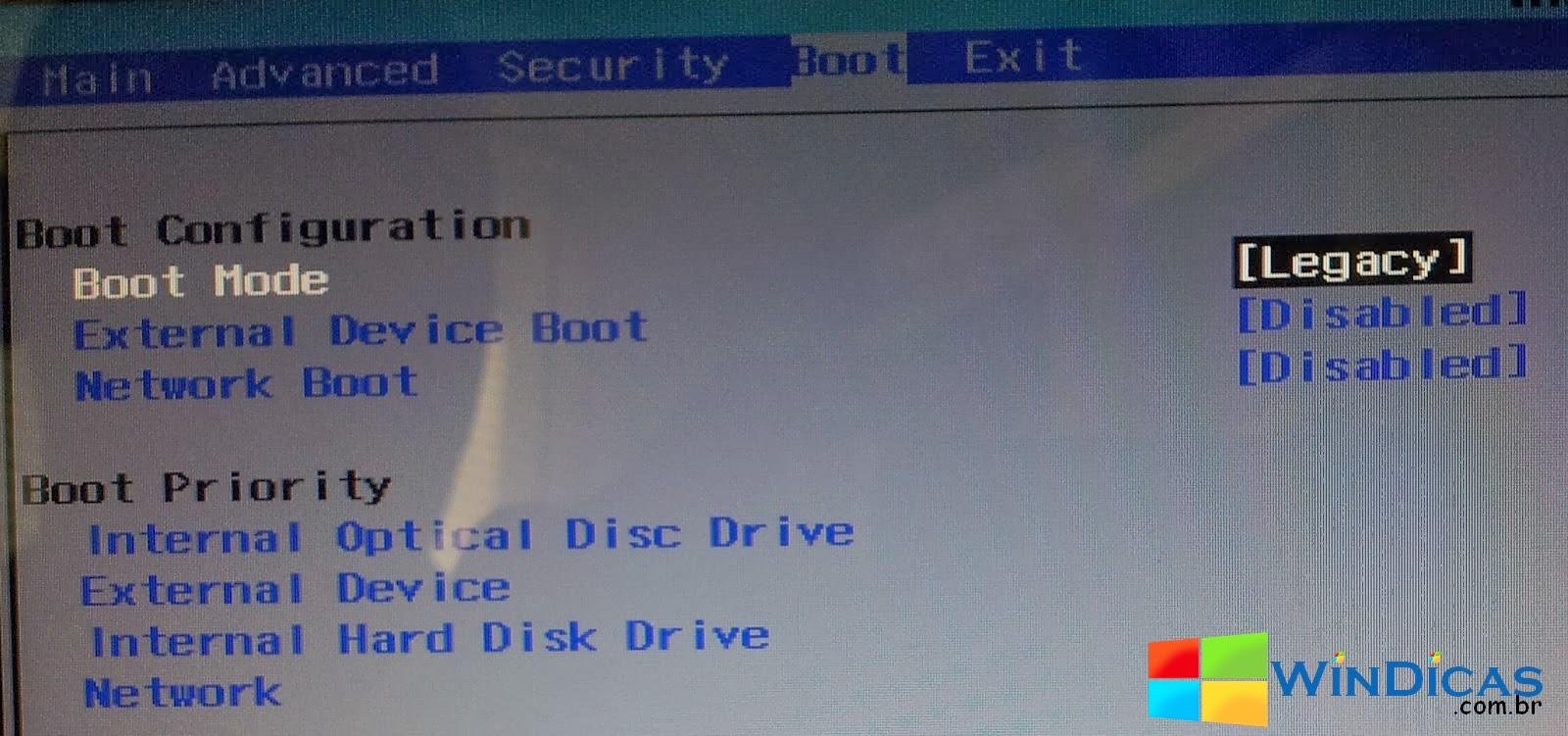 Notebook samsung dar boot - Uefi