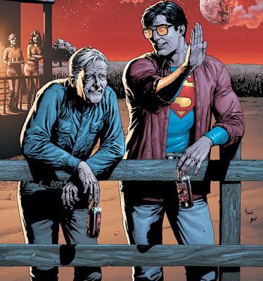 Jonathan Kent y Clark Kent