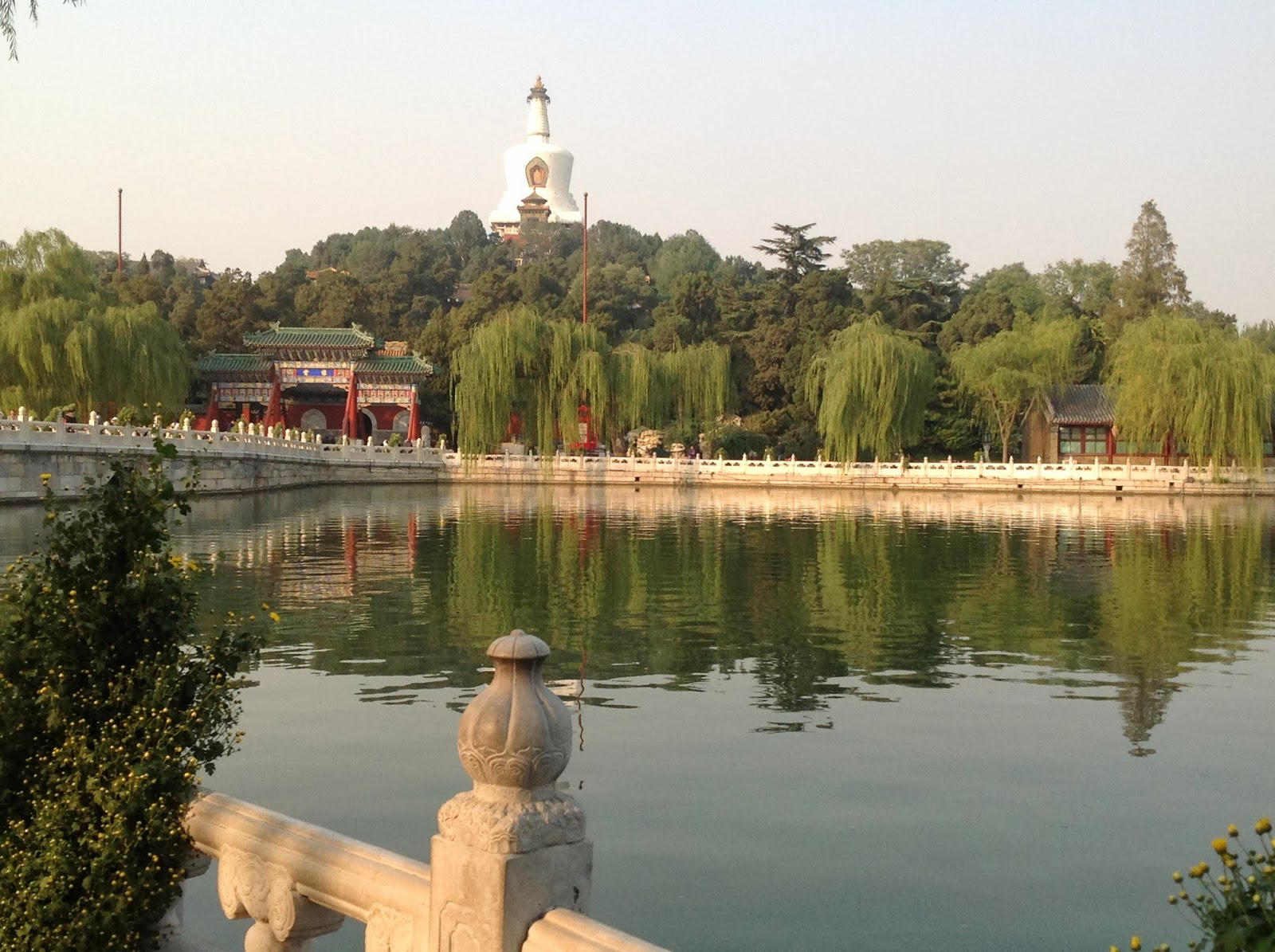 Beihai Park with a beautiful Buddhist Temple