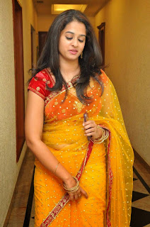 Actress Nanditha Raj Picture Gallery in Saree at Ram Leela Movie Audio Launch  21